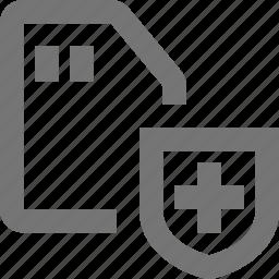 sd card, shield icon