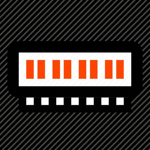 computer, hardware, memory, ram, random access memory icon