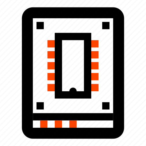 computer, disk, drive, solid state disk, ssd, storage icon