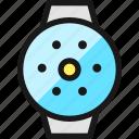 smart, watch, circle, brightness