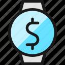 smart, watch, circle, cash