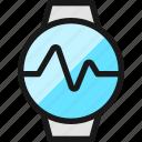 smart, watch, circle, graph, line
