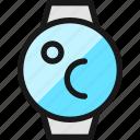 smart, watch, circle, temperature