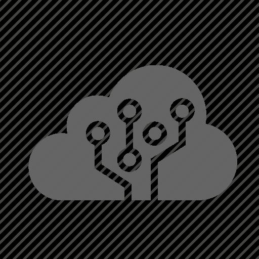 cloud, computing, data, tech icon