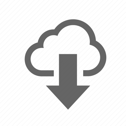cloud, computing, data, download icon