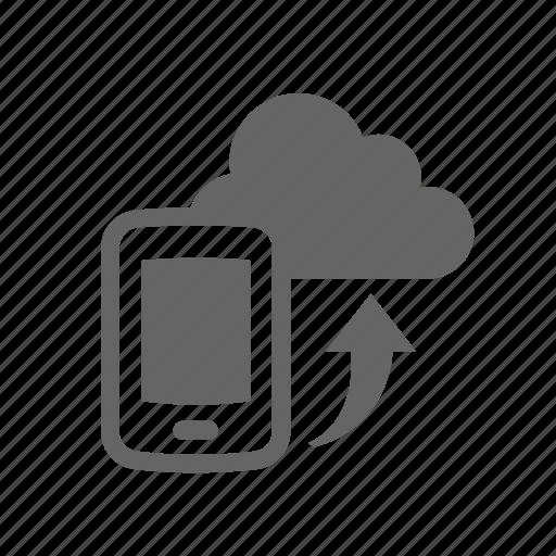 cloud, mobile, synchronization, upload icon