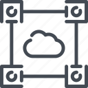 cloud, computer, connection, data, link, server, service icon