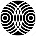 collision waves, interference, interference logo, interference symbol, intersection, intrusion icon
