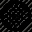 chip, micro, microchip, microelectronics, microelectronics logo icon