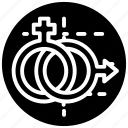 female symbol, feminine, gender, male symbol, sexology, sexology logo icon