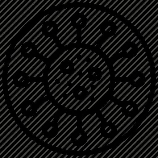 bacterial, infection, microorganism, virus, virus logo icon