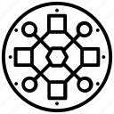 algorithm, data architecture, data pattern, data science, pattern recognition icon