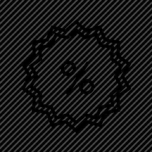 discount, label, percent, sale, sticker, tag icon