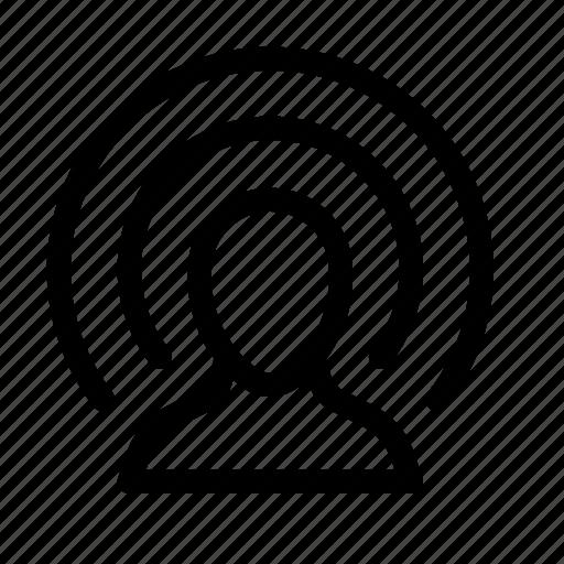 broadcast, cast, podcast, vlog, wireless icon