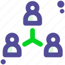 network, people, shared icon