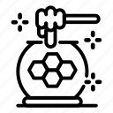 dipper, honey, jar, thin, vector, yul907 icon