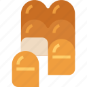bakery, bread, bun, food, foodrestaurant, roll, toast icon