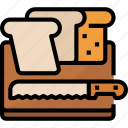 bakery, bread, breakfast, foodrestaurant, meal, slices, toaster icon