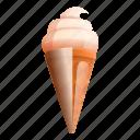 chocolate, cone, food, icecream, summer