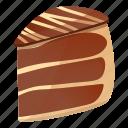 cake, chocolate, food, party, piece, wedding