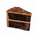 bake, cake, chocolate, dessert, slice, sweet icon