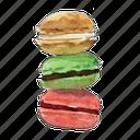 bake, cookie, dessert, macaron, macarons, sandwich, sweet icon
