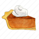 dessert, holiday, pie, pumpkin, slice, sweet, thanksgiving icon