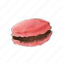 bake, cookie, dessert, macaron, strawberry icon