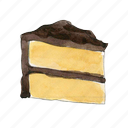 bake, cake, chocolate, dessert, slice, sweet, vanilla icon