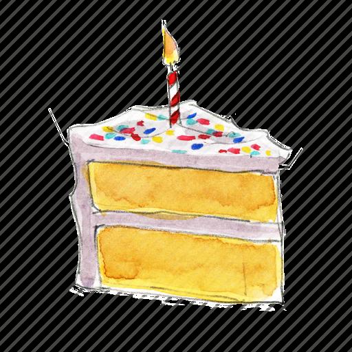 Images Of Birthday Cake Slices : Birthday, cake, dessert, slice, sprinkles, sweet, vanilla ...