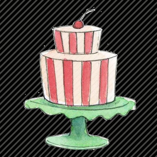 bake, cake, dessert, stand, sweet icon