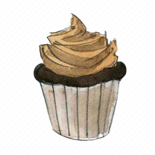 bake, cake, chocolate, cupcake, dessert, sweet icon
