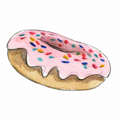 bake, dessert, doughnut, sprinkles, sweet icon