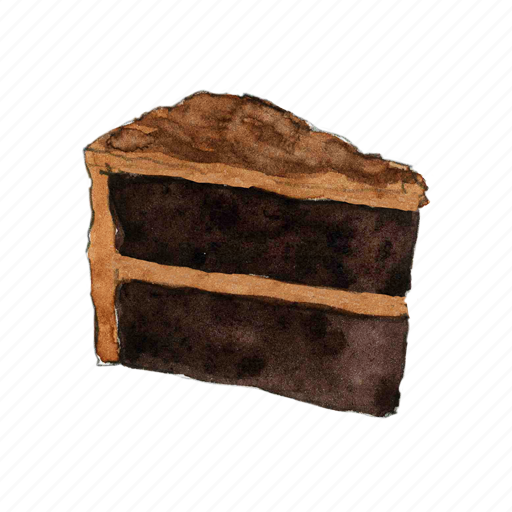 bake, cake, chocolate, dessert, slice, sweet icon