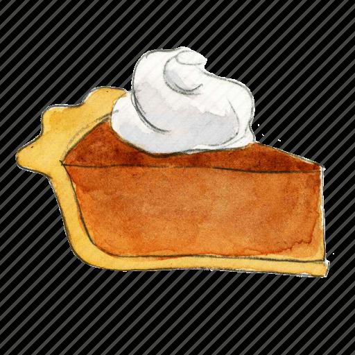 dessert, holiday, pie, pumpkin, slice, sweet, thanksgiving icon