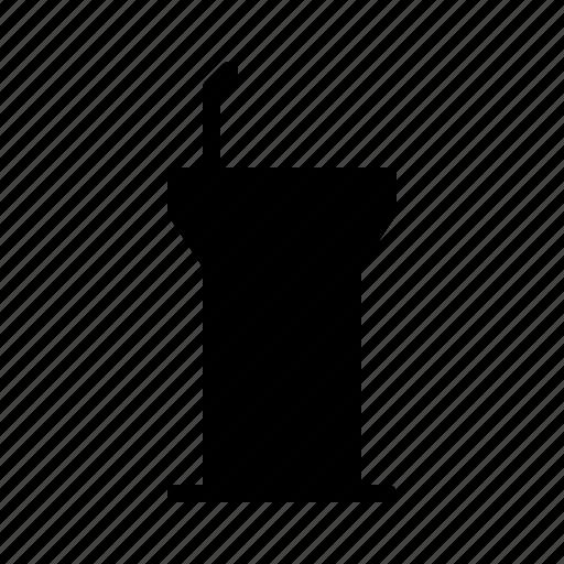 business, conference, presentation, rostrum, workshop icon