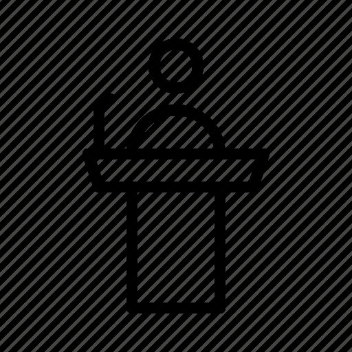 business, conference, presentation, speaker, workshop icon