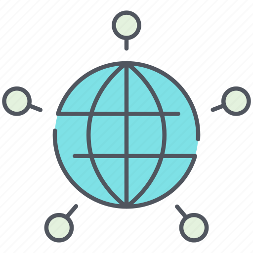 cloud, connections, global, international, internet, network, web icon