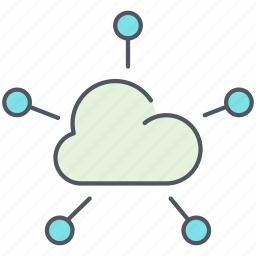 cloud, communication, computing, connection, network, share, storage icon