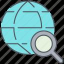computer, files, network, web, international, internet, search icon