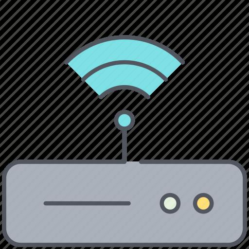 broadband, internet, modem, router, signal, wifi, wireless icon