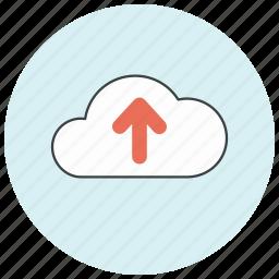backup, cloud, ftp, storage, up, upload, uploading icon