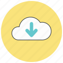 cloud, down, download, storage icon