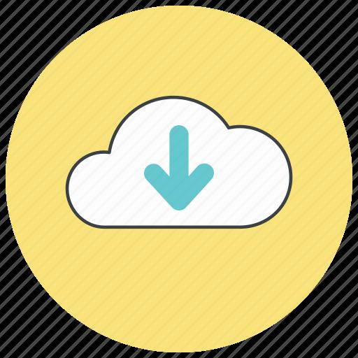 cloud, down, download, storage icon