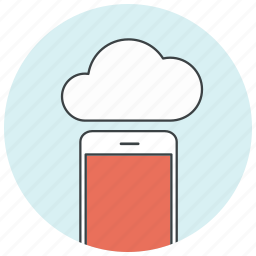 cloud, connection, data, icloud, iphone, phone, storage icon
