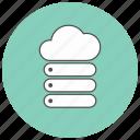 cloud, computer, server, store icon