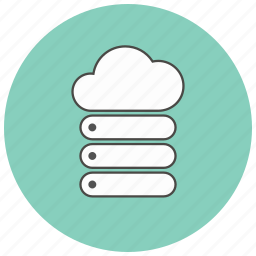 cloud, computer, server, store icon