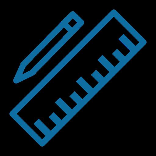 document, edit, pen, pencil, ruler, tool, write icon