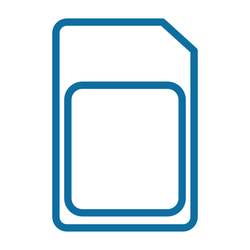 card, cellular, data, device, mobile, phone, service icon