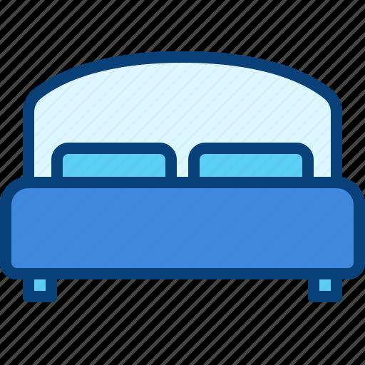 bed, bedroom, king bed, queen bed, sleep icon